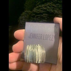 Jennifer Lopez silver chunky ring one size